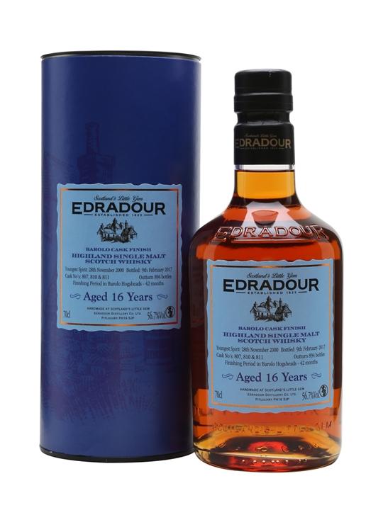 Edradour 2000 / 16 Year Old / Barolo Finish Highland Whisky
