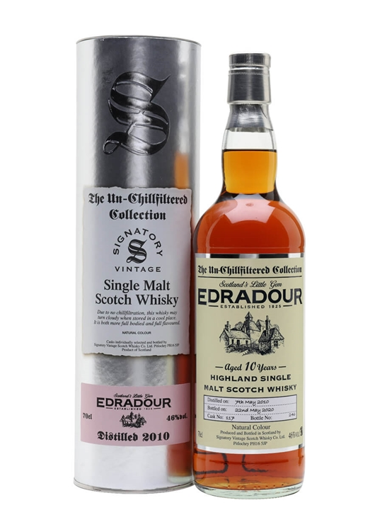 Edradour 2010 / 10 Year Old / Signatory Highland Whisky