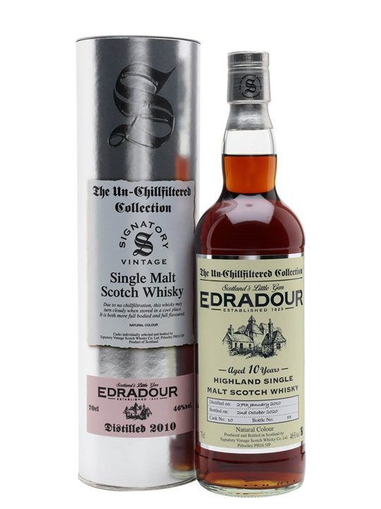 Edradour 2010 / 10 Year Old / Sherry Cask / Signatory Highland Whisky