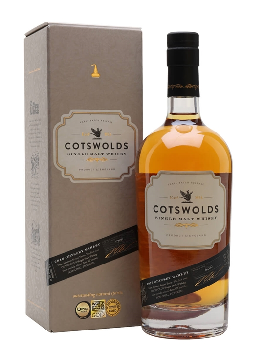 Cotswolds Single Malt 2015 Odyssey Barley English Single Malt Whisky