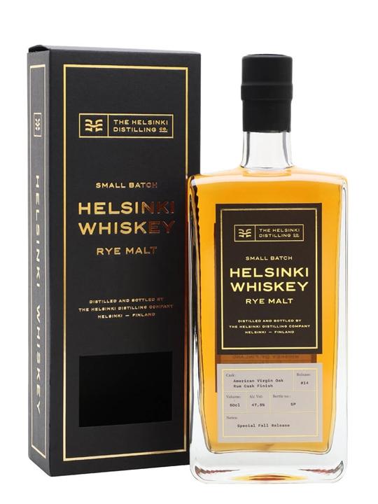 Helsinki Whiskey Rum Cask Rye Malt Finnish Rye Whiskey