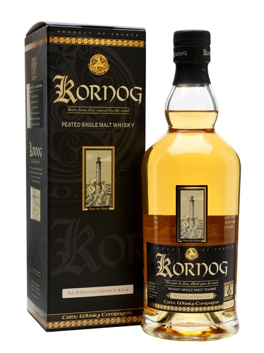 Kornog Pedro Ximenez Cask Finish / Cask Strength French Whisky
