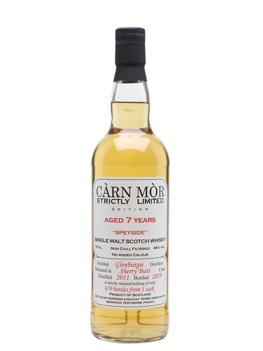 Glenburgie 2011 / 7 Year Old / Carn Mor Strictly Limited Speyside Whisky