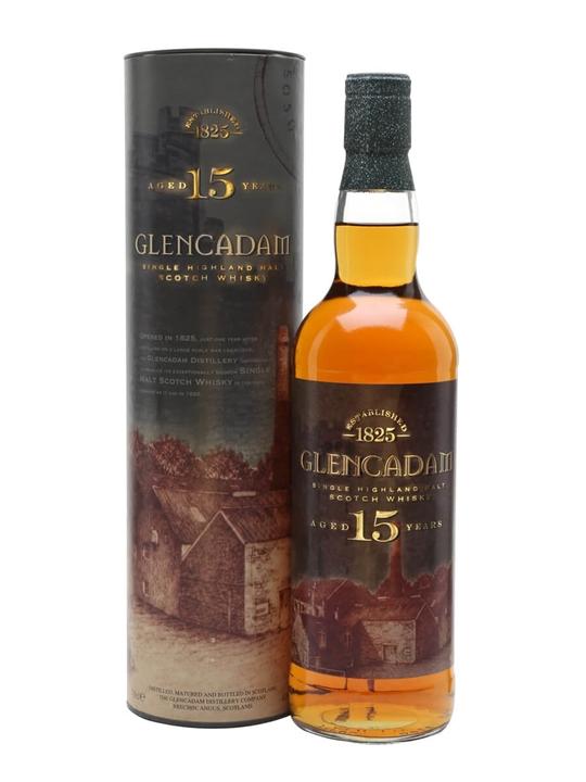 Glencadam 15 Year Old / Old Presentation Highland Whisky