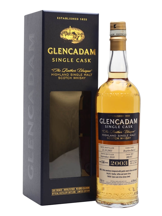 Glencadam 2003 / 14 Year Old / BOurbon Barrel Highland Whisky