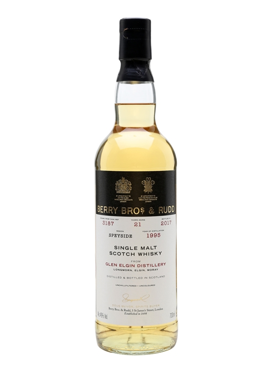 Glen Elgin 1995 / 21 Year Old / Selected By Berrys Speyside Whisky