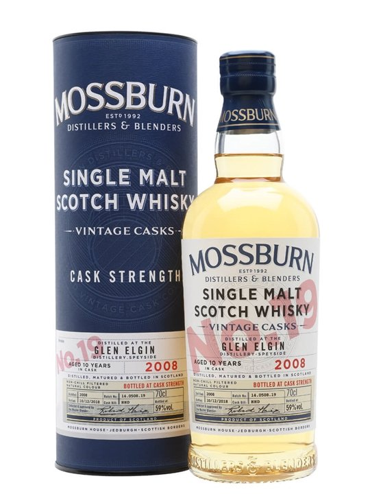 Glen Elgin 2008 / 10 Year Old / Vintage Casks #19 / Mossburn Speyside Whisky