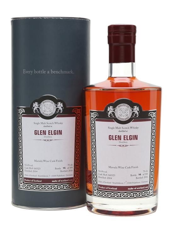 Glen Elgin 2004 / Bot.2016 / Marsala / Malts Of Scotland Speyside Whisky