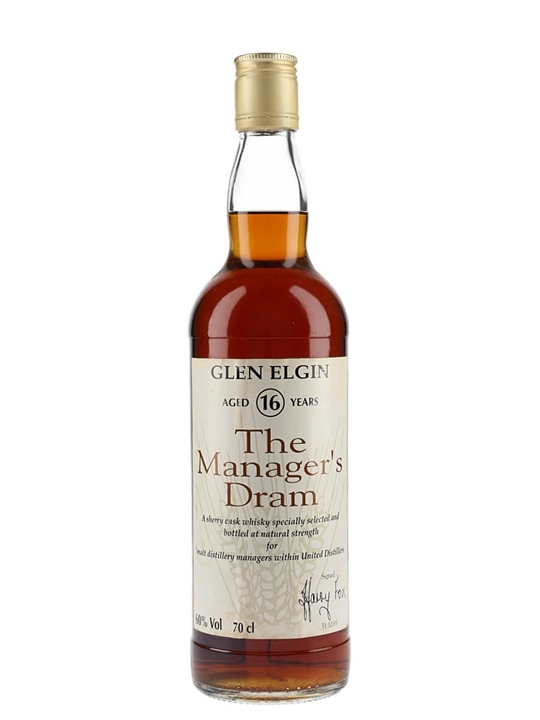 Glen Elgin 16 Year Old / Manager's Dram / Sherry Cask Speyside Whisky