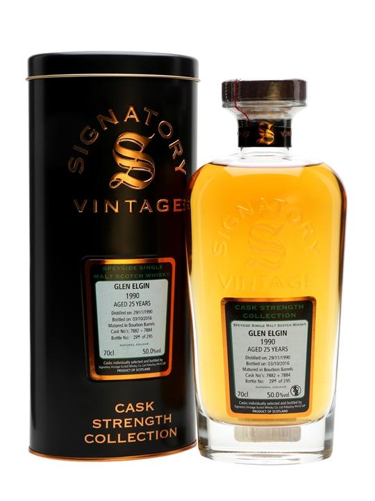 Glen Elgin 1990 / 25 Year Old / Cask #7882+84 / Signatory Speyside Whisky