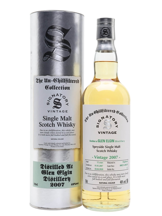 Glen Elgin 2007 / 12 Year Old / Signatory Speyside Whisky