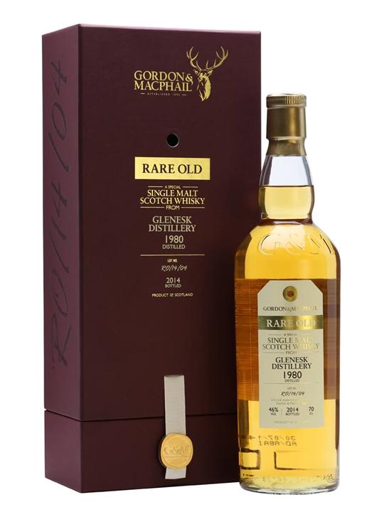 Glenesk 1980 / 33 Year Old / Rare Old / Gordon & MacPhail Highland Whisky