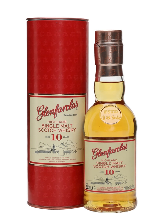 Glenfarclas 10 Year Old / Small Bottle Speyside Whisky