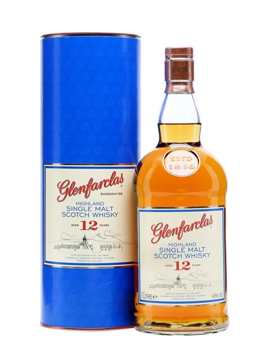 Glenfarclas 12 Year Old / Litre Speyside Single Malt Scotch Whisky