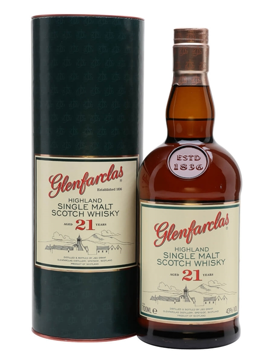 Glenfarclas 21 Year Old Speyside Single Malt Scotch Whisky