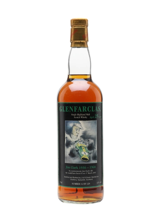 Glenfarclas 25 Year Old / Jim Clark Speyside Single Malt Scotch Whisky