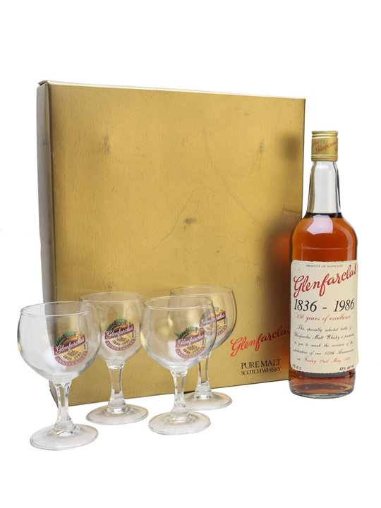 Glenfarclas 150th Anniversary & 4 Glasses Set Speyside Whisky