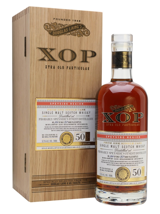 Speyside's Finest 1967 / 50 Year Old / Sherry Cask Speyside Whisky