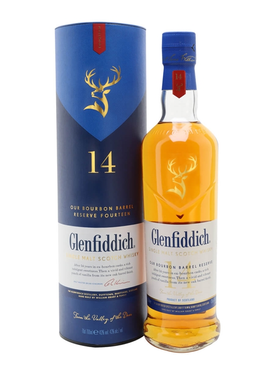 Glenfiddich 14 Year Old / Bourbon Barrel Reserve Speyside Whisky