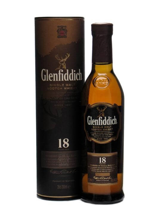 Glenfiddich 18 Year Old / Small Bottle Speyside Whisky