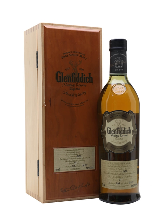 Glenfiddich 1972 / 31 Year Old / Vintage Reserve Speyside Whisky