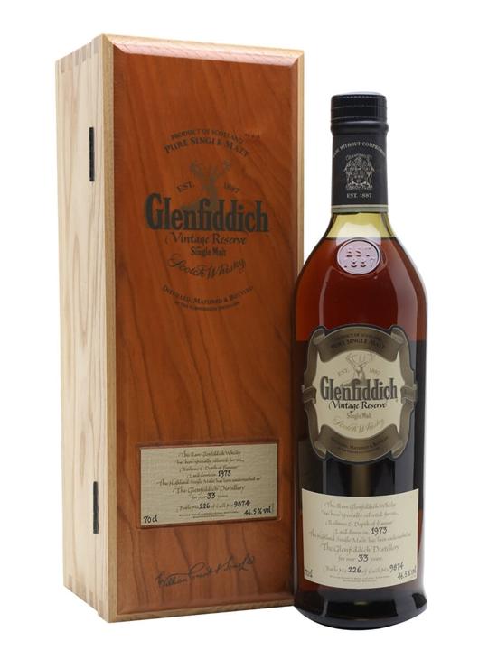 Glenfiddich 1973 / 33 Year Old / Vintage Reserve Speyside Whisky