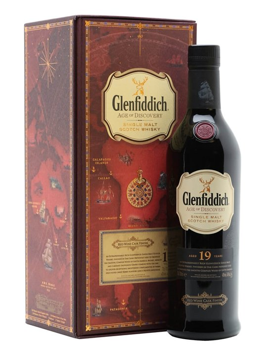 Glenfiddich 19 Year Old / Age of Discovery Red Wine Speyside Whisky