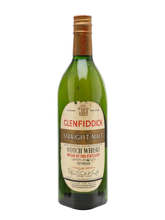 Glenfiddich Straight Malt / Bot.1960s Speyside Whisky