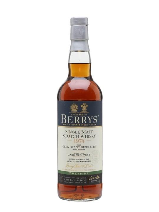 Glen Grant 1974 / Sherry Cask / Berry Bros & Rudd Speyside Whisky