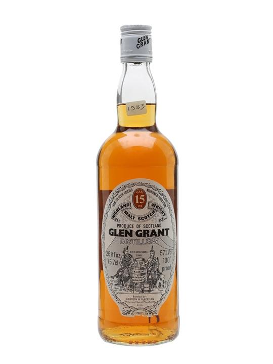 Glen Grant 15 Year Old / Bot.1980s / Gordon & Macphail Speyside Whisky