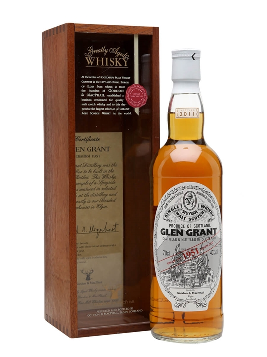 Glen Grant 1951 / 60 Year Old / Gordon & Macphail Speyside Whisky