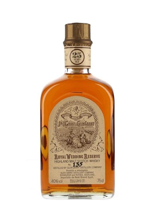 Glen Grant 25 Year Old / Royal Wedding Reserve Speyside Whisky