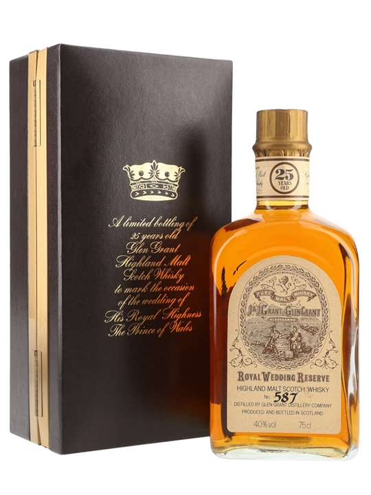 Glen Grant 25 Year Old / Royal Wedding Reserve Speyside Whisky