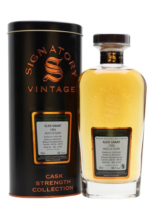 Glen Grant 1995 / 24 Year Old / Signatory Speyside Whisky