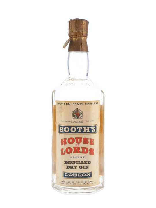Booth's Dry Gin / House of Lords / Bot.1960s