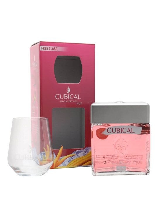 Cubical Kiss Gin / Glass Pack