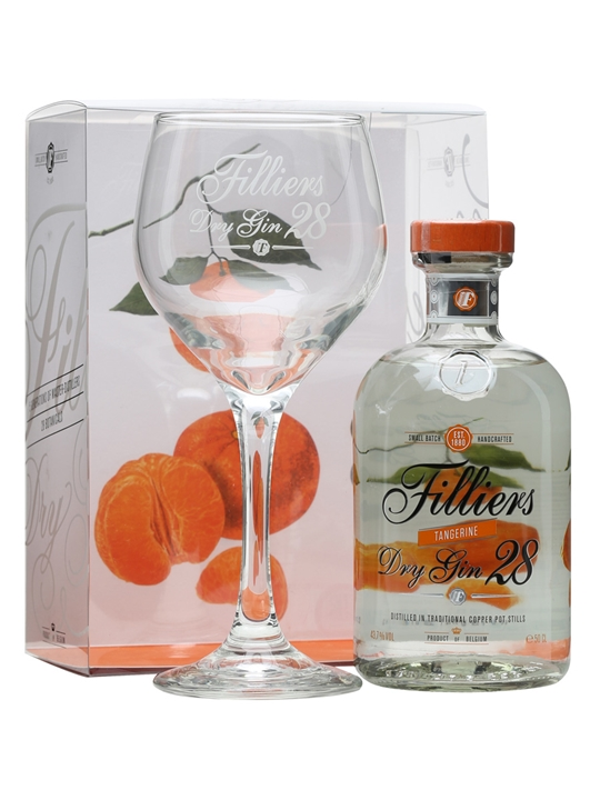 Filliers Dry Gin 28 Tangerine / Glass Pack 50cl