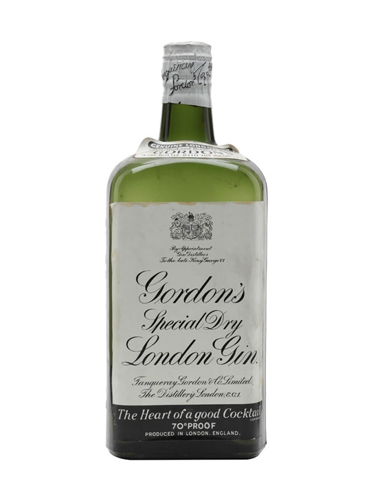 Gordon's Gin / Spring Cap / Bot.1940s (King George VI)