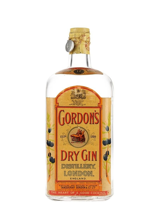 Gordon's London Dry Gin / Bot.1950s / Spring Cap