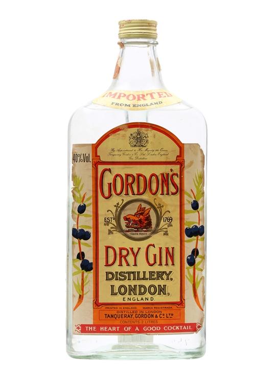 Gordon's London Dry Gin / Yellow Label / Bot.1970s