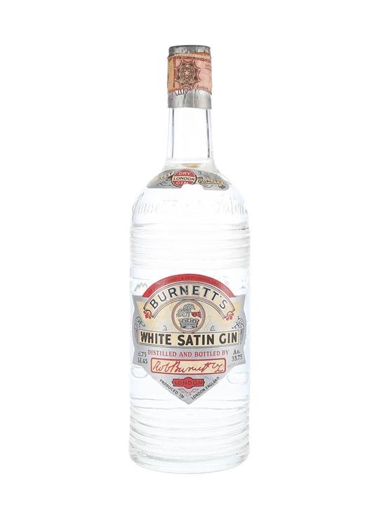 Burnett's White Satin Gin / Bot.1950s / Spring Cap