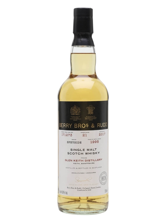 Glen Keith 1995 / 21 Year Old / Berry Bros & Rudd Speyside Whisky