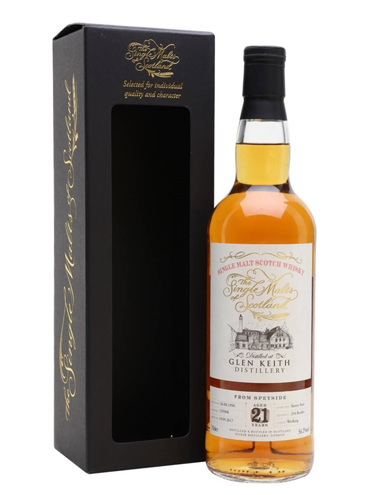 Glen Keith 1996 / 21 Year Old / Single Malts Of Scotland Speyside Whisky