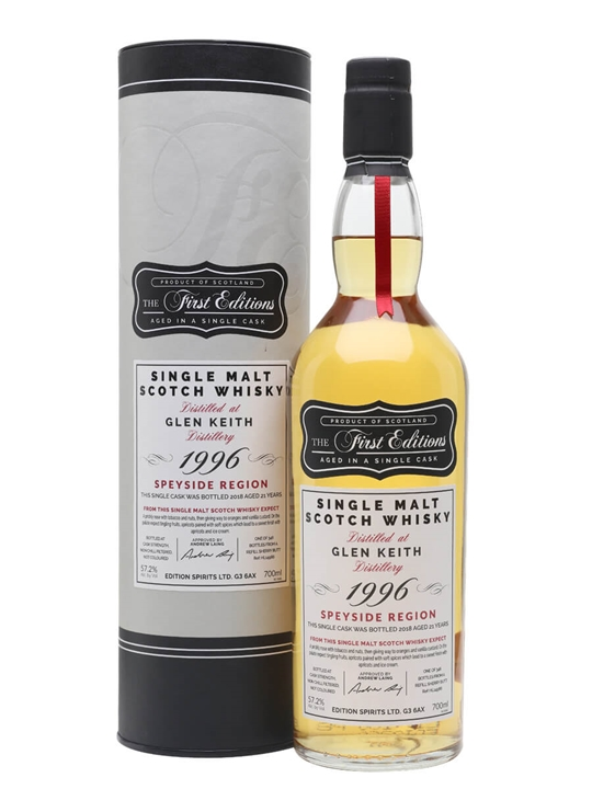 Glen Keith 1996 / 21 Year Old / First Editions Speyside Whisky
