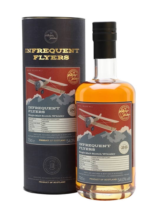 Glen Keith 1993 / 26 Year Old / Infrequent Flyers Speyside Whisky