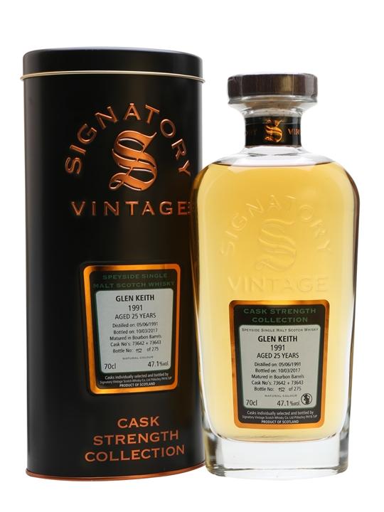 Glen Keith 1991 / 25 Year Old / Signatory Speyside Whisky