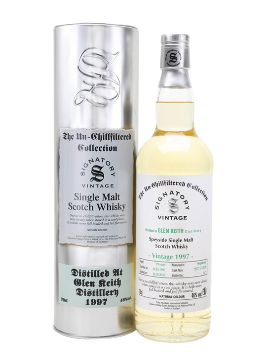 Glen Keith 1997 / 19 Year Old / Signatory Speyside Whisky