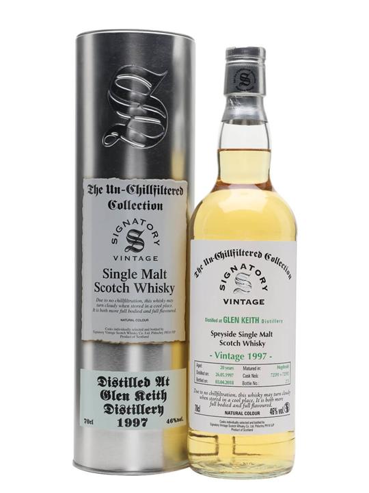 Glen Keith 1997 / 20 Year Old / Signatory Speyside Whisky