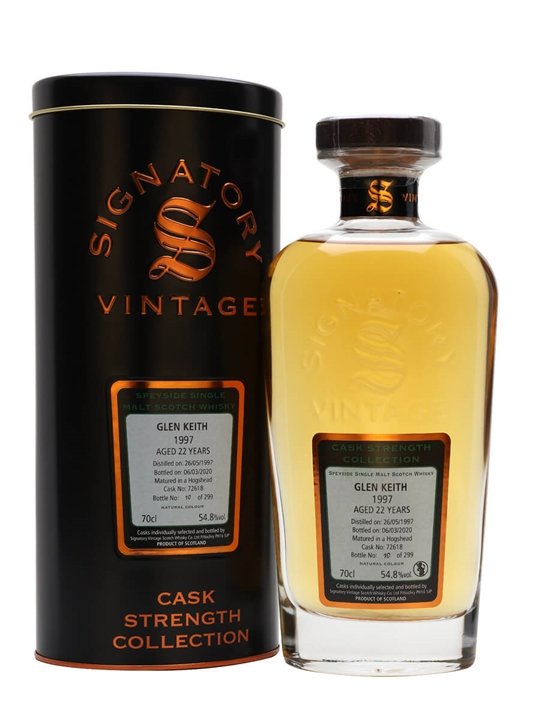 Glen Keith 1997 / 22 Year Old / Signatory Speyside Whisky