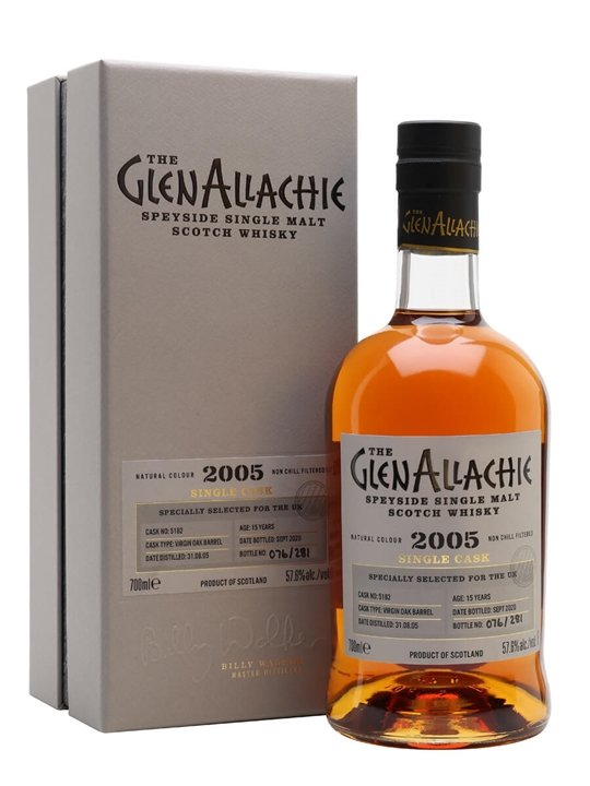 Glenallachie 2005 / 15 Year Old / Virgin oak Barrel Speyside Whisky
